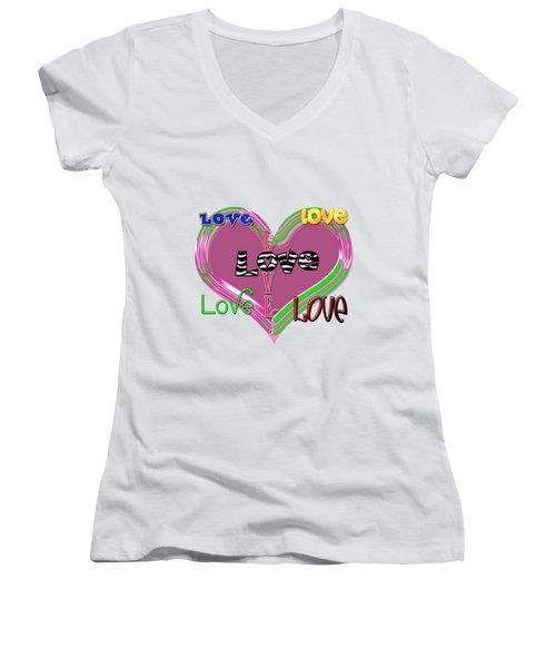 Love T-shirt Clothing Women's V-Neck