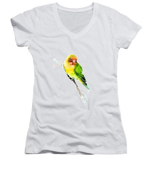 Lovebird Women's V-Neck T-Shirt (Junior Cut) by Suren Nersisyan