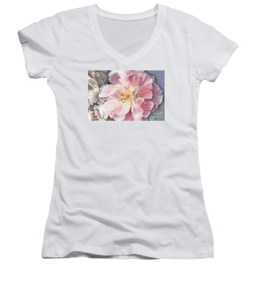 Loveliness Flower Women's V-Neck T-Shirt (Junior Cut)