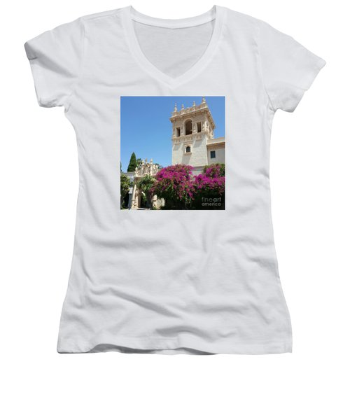 Lovely Blooming Day In Balboa Park San Diego Women's V-Neck T-Shirt (Junior Cut)