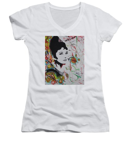 Lovely Hepburn Women's V-Neck