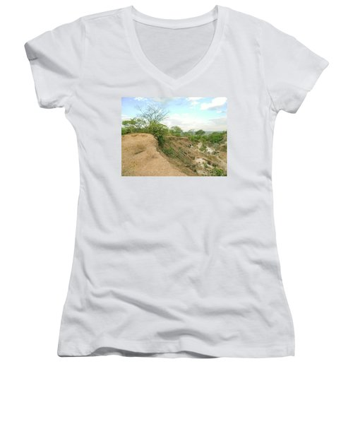 Women's V-Neck T-Shirt (Junior Cut) featuring the photograph Lovers Forever by Beto Machado