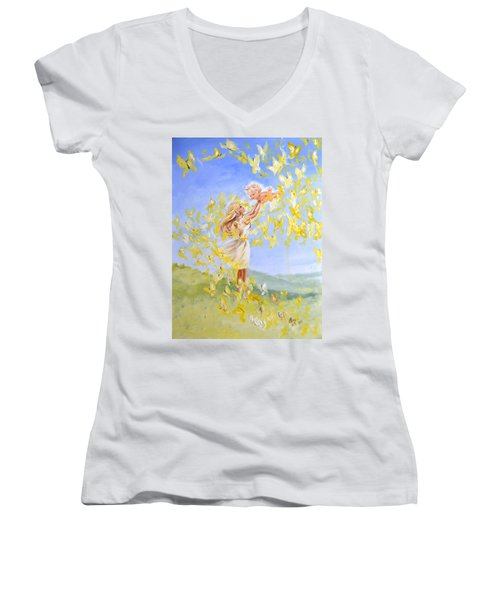 Love's Flight Women's V-Neck T-Shirt