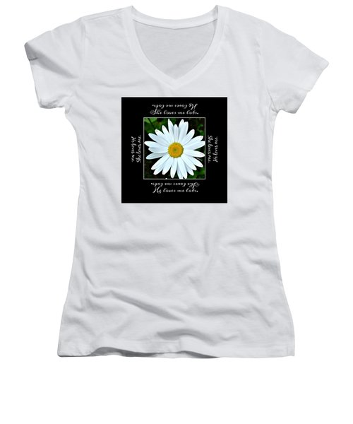 Loves Me Loves Me Lots Women's V-Neck (Athletic Fit)