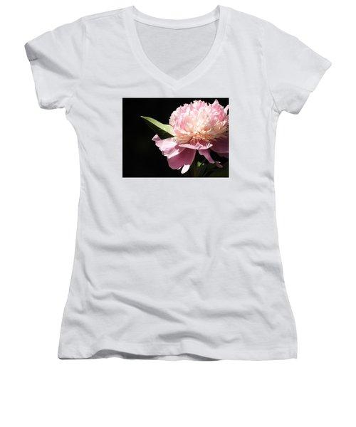 Loving The Sunshine Women's V-Neck T-Shirt (Junior Cut) by Betty-Anne McDonald