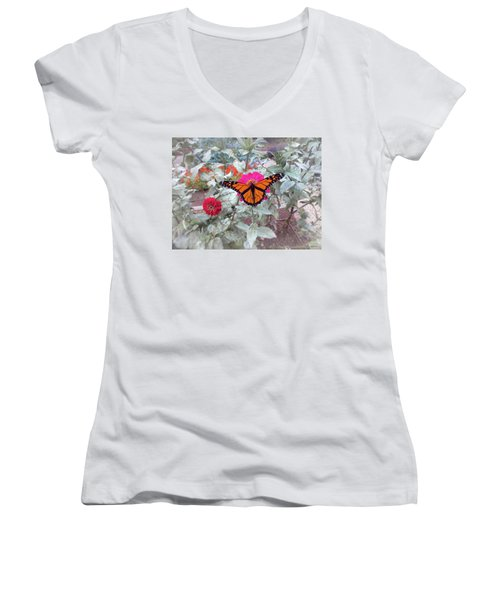 Loving The Zinnias Women's V-Neck (Athletic Fit)