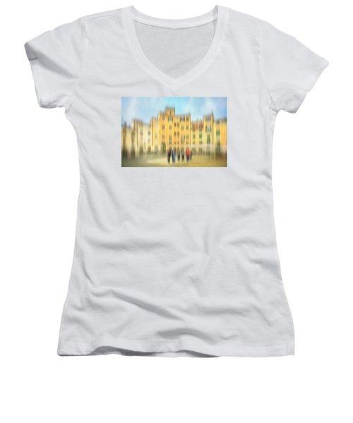 Lucca Ampitheatre Impression 2 Women's V-Neck T-Shirt