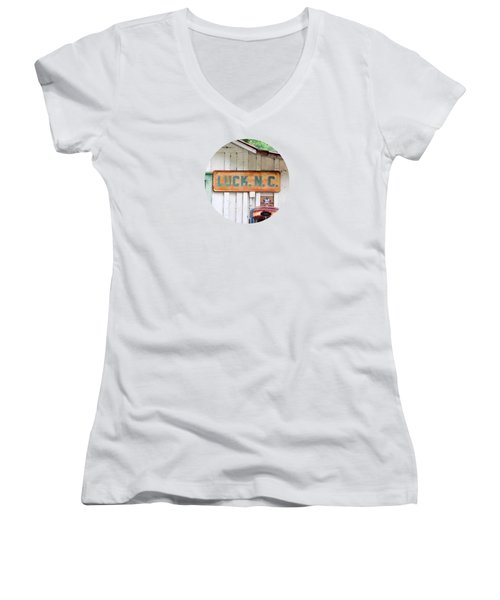 Luck Nc T Shirt Women's V-Neck T-Shirt