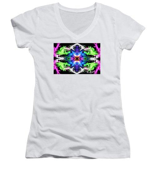 Lucky Charm Women's V-Neck T-Shirt (Junior Cut) by Diana Riukas