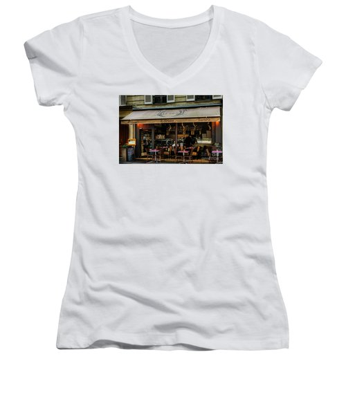 Lunch In Paris Women's V-Neck