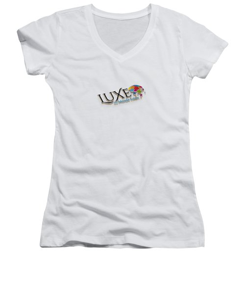 Luxe Logo 3d 2 Women's V-Neck T-Shirt