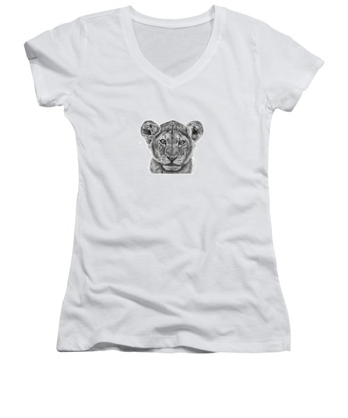 Lyla The Lion Cub Women's V-Neck T-Shirt