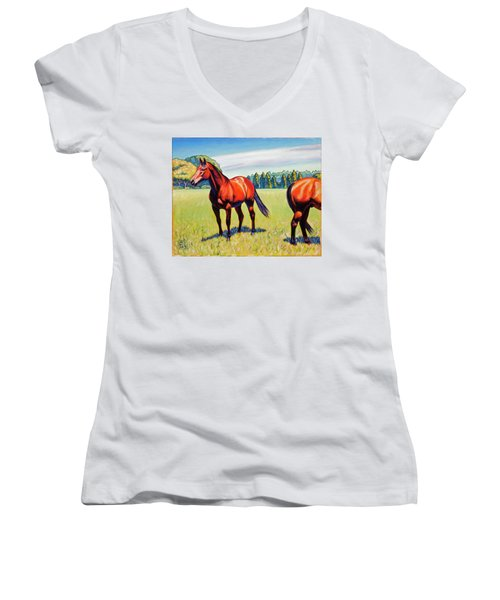 Mac And Friend Women's V-Neck (Athletic Fit)