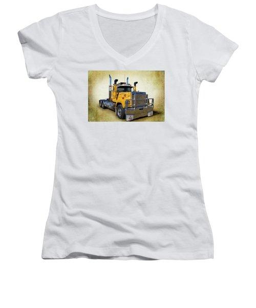 Mack Truck Women's V-Neck T-Shirt