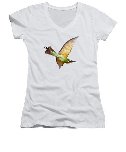 Madagascar Bee-eater T-shirt Women's V-Neck