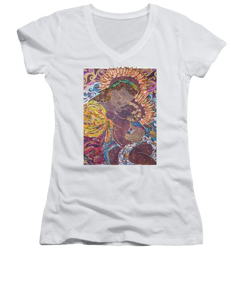 Madonna And Child The Sacred And Profane Women's V-Neck T-Shirt