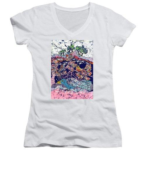 Magical Birds Women's V-Neck T-Shirt
