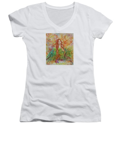 Magical Song Of Autumn Women's V-Neck (Athletic Fit)