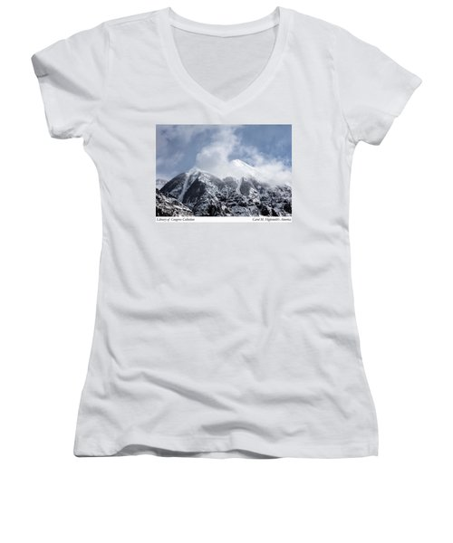 Magnificent Mountains In Telluride In Colorado Women's V-Neck T-Shirt (Junior Cut) by Carol M Highsmith