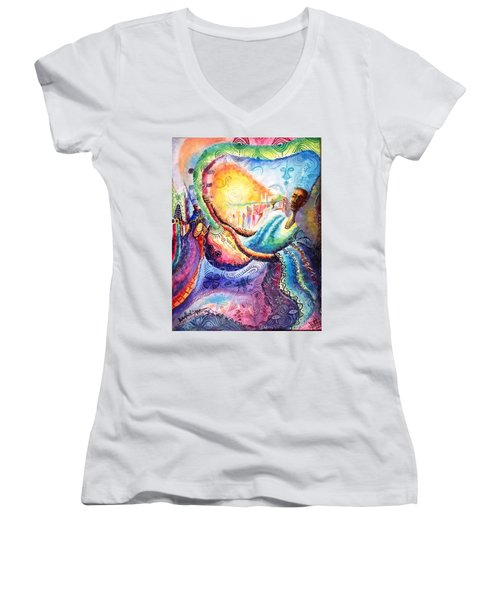 Mai Goge Master Guitarist Women's V-Neck T-Shirt