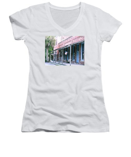 Main Street Micanopy Florida Women's V-Neck (Athletic Fit)