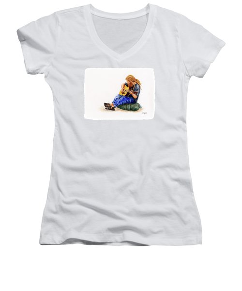 Main Street Minstrel 2 Women's V-Neck