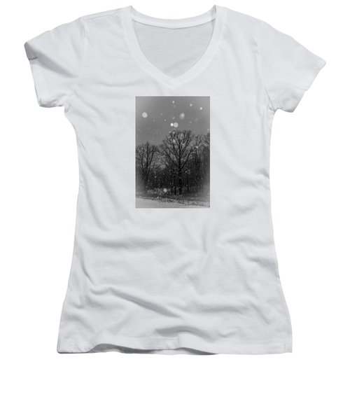 Women's V-Neck T-Shirt (Junior Cut) featuring the photograph Majestic  by Annette Berglund