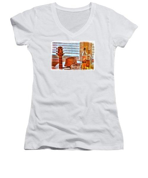 Making Music 002 Women's V-Neck T-Shirt