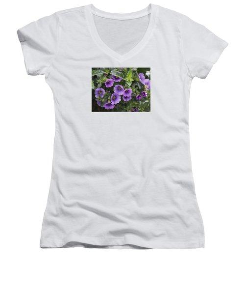 Mallow Women's V-Neck T-Shirt (Junior Cut) by Larry Capra