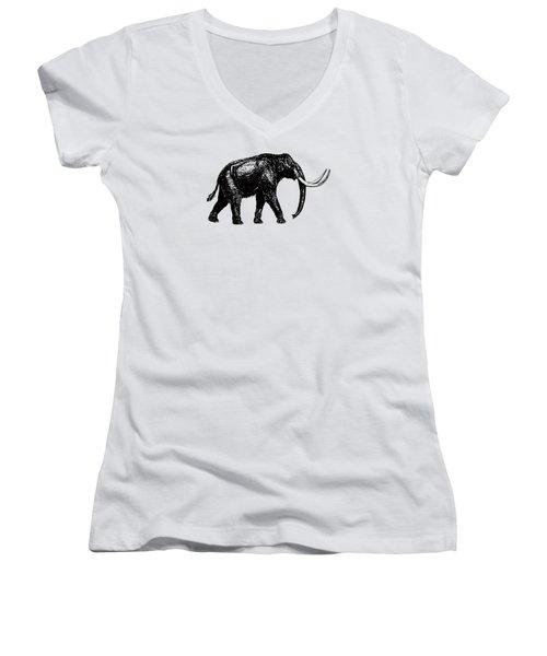 Mammoth Tee Women's V-Neck T-Shirt (Junior Cut) by Edward Fielding