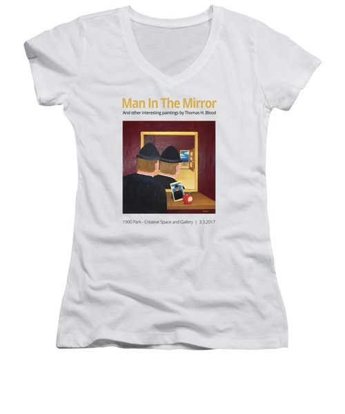 Man In The Mirror T-shirt Women's V-Neck (Athletic Fit)