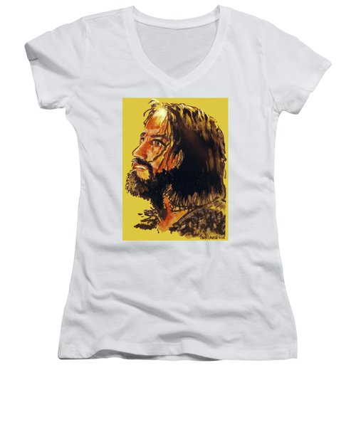 Man Of Sorrows Women's V-Neck (Athletic Fit)