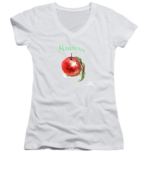 Mandarin Fruits Women's V-Neck T-Shirt