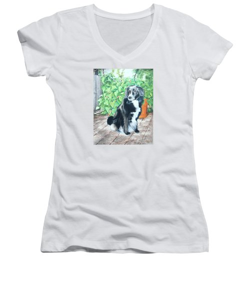Mandy Women's V-Neck T-Shirt (Junior Cut) by Mike Ivey