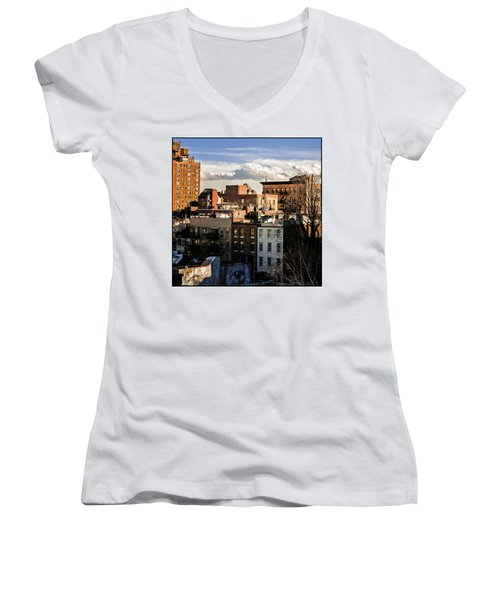Manhattan From The Whitney Women's V-Neck