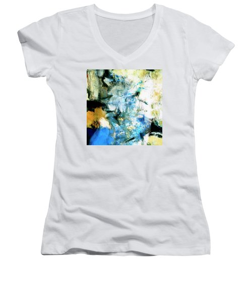 Women's V-Neck T-Shirt (Junior Cut) featuring the painting Manifestation by Dominic Piperata