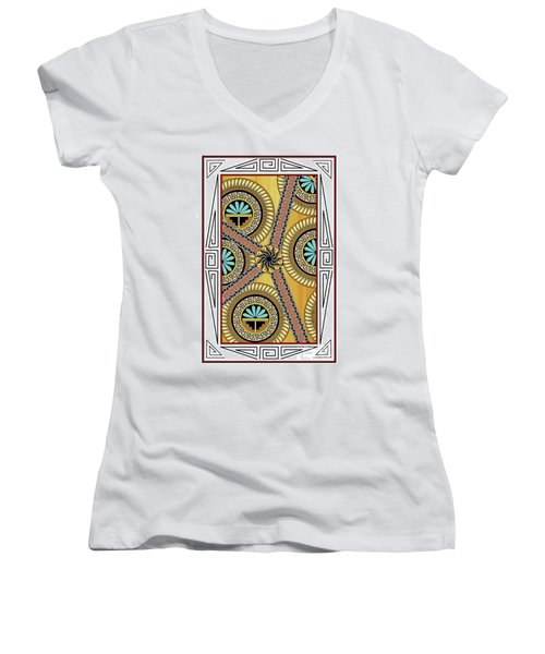 Many Circles Women's V-Neck (Athletic Fit)