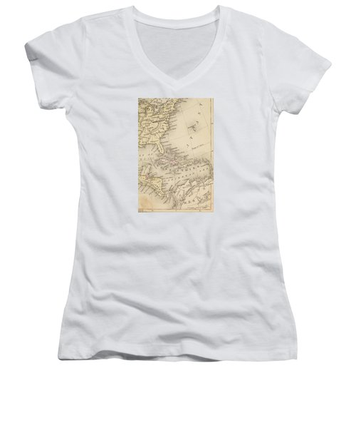 Map Women's V-Neck T-Shirt (Junior Cut) by Sample