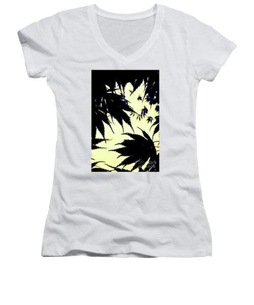Maple Silhouette Women's V-Neck T-Shirt