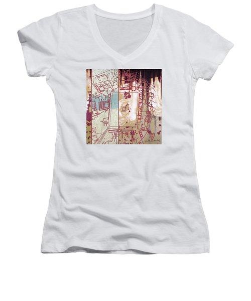 Maps #27 Women's V-Neck T-Shirt (Junior Cut)