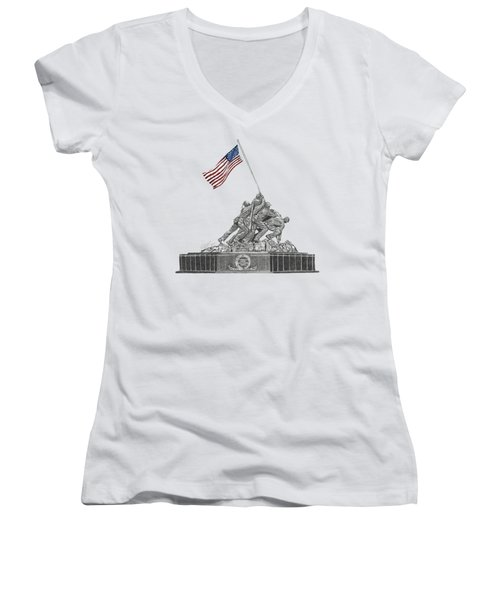 Marine Corps War Memorial - Iwo Jima Women's V-Neck