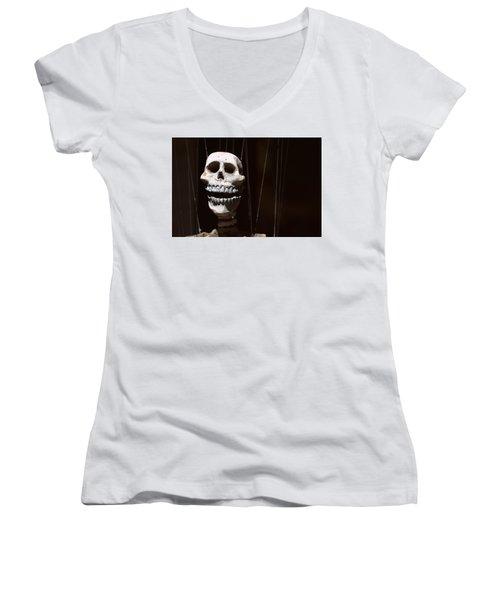 Marionette Women's V-Neck T-Shirt (Junior Cut) by Joseph Skompski