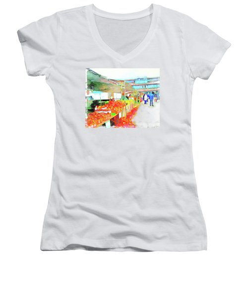 Market Day Women's V-Neck (Athletic Fit)