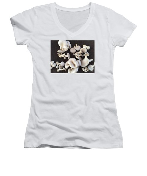 Market Mushrooms Women's V-Neck T-Shirt