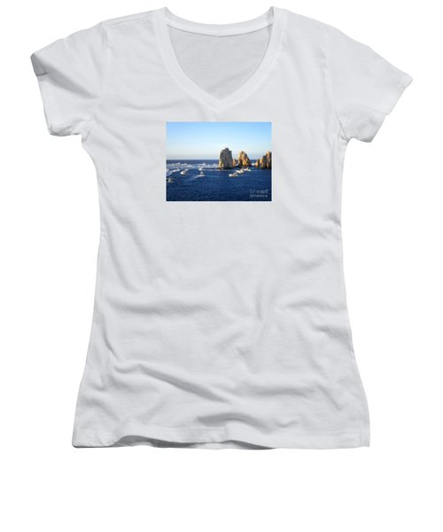 Marlin Fishing Tournament 1 Women's V-Neck (Athletic Fit)