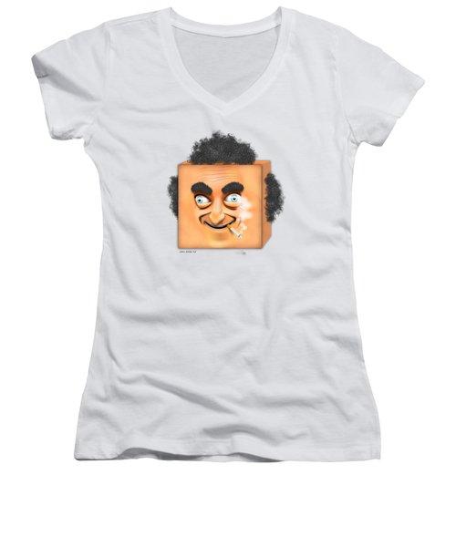 Marty Feldman Caricature Women's V-Neck T-Shirt