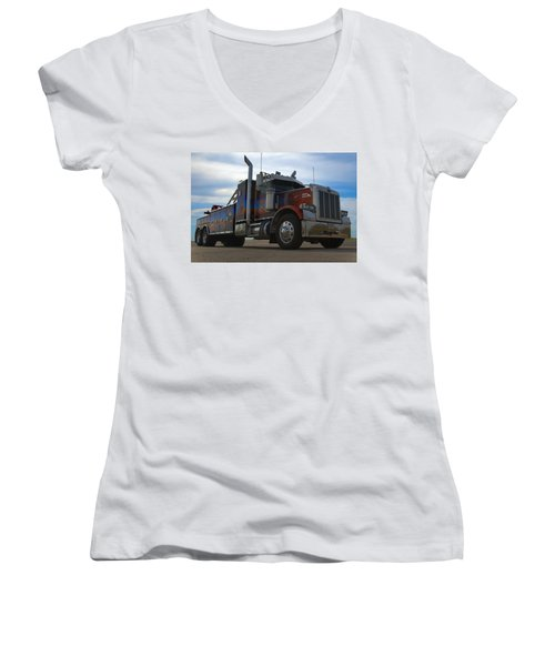 Marvins Big Rig Cars Movie Tribute Tow Truck Women's V-Neck