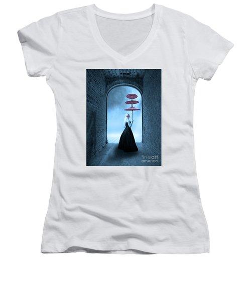 Women's V-Neck T-Shirt (Junior Cut) featuring the photograph Masquerade by Juli Scalzi