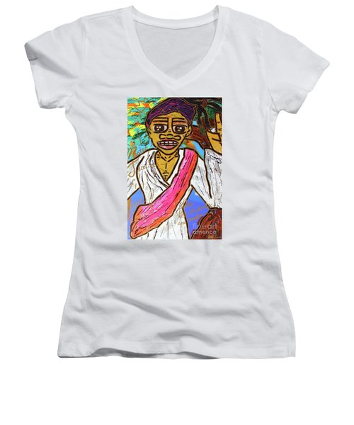 Master Teachers Teach The World Women's V-Neck
