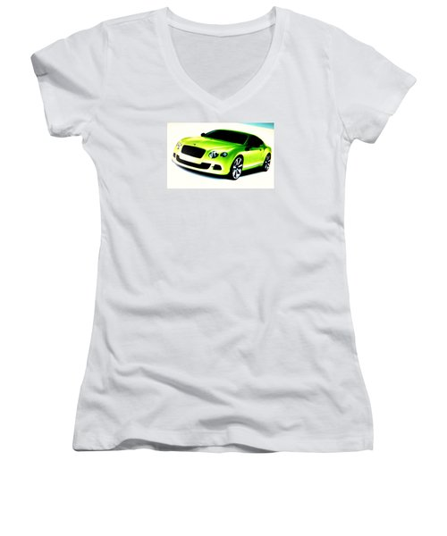 Matchbox Bentley Women's V-Neck T-Shirt